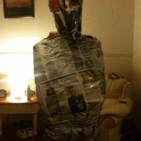 newspaper mummification
